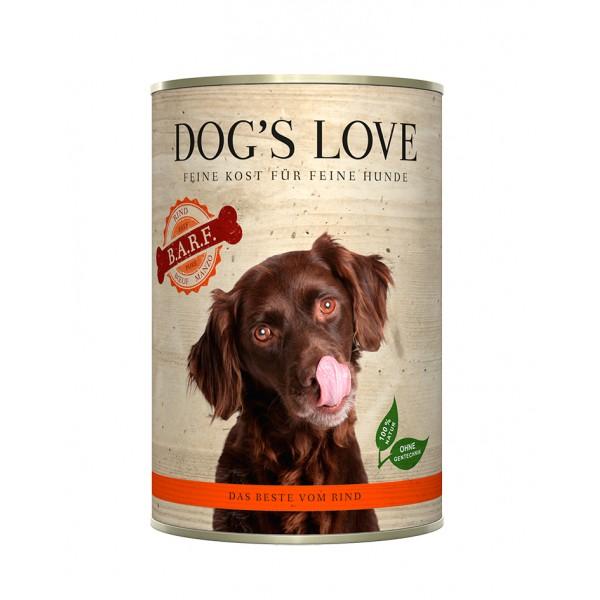 DOG'S LOVE lata BARF vacuno...